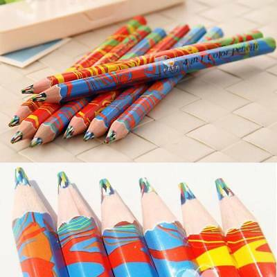 Creative Rainbow Colored Pencils for Student Stationery Painting Graffiti Pencil