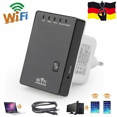 Wireless 5in1 Wifi WLAN Repeater Mini Router WPS WLAN 300Mbit Hotspot Verstärker