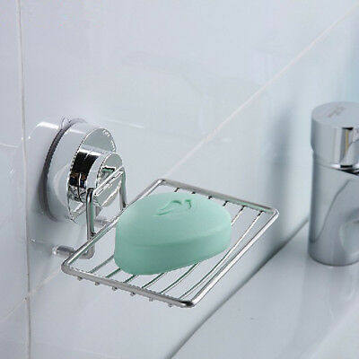 Household Strong Suction Cup Kitchen Sink Soap Dish Wall Holder Dish Bathroom