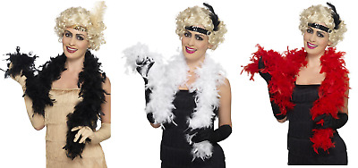 NEW Feather Boa 150cm - Burlesque 20s Dance Hen Night Fancy Dress Accessory