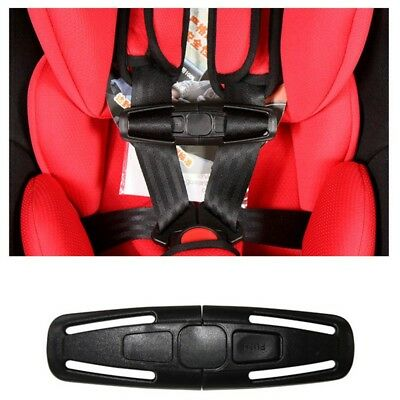 New Black Baby Safety Car Seat Strap Belt Toddler Chest Harness Clip Safe Buckle