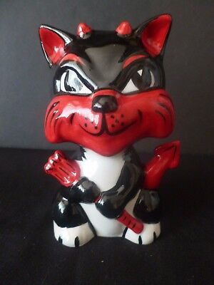 "Lorna Bailey Collectors Hand Painted Signed Cat ""red Devil"" Brand New Unused"