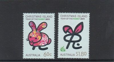 CHRISTMAS IS  2011  Year of the RABBIT design set of 2 MNH