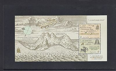 CHRISTMAS Island 2017 EARLY VOYAGES MINISHEET  MNH.- Early Explorers.
