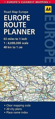 Europe Route Planner: AA Road Map Europe - Sheet map, folded