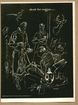 HAIG & HAIG Scotch Whiskey Hunting/Fishing 1952 Original Print Ad