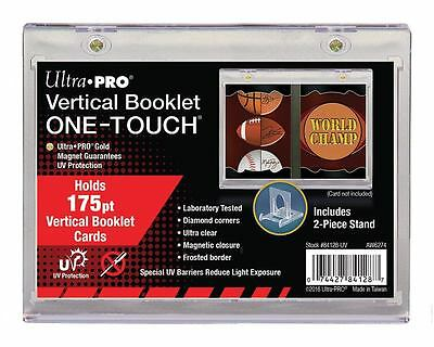 1 Box of 12 Ultra Pro One Touch VERTICAL BOOKLET Magnetic Holder w/ Stand