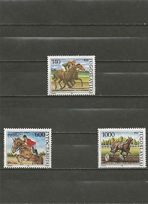 YUGOSLAVIA - 1988 Horse Sports   - MINT UNHINGED SET.