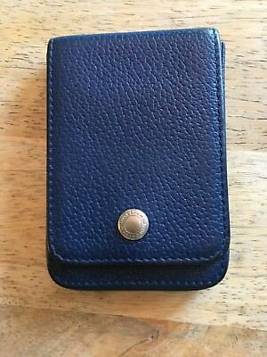 Coach Business Card Holder Blue Leather