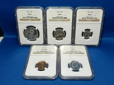 1941 US Mint Silver Proof Set - NGC Certified PF 66