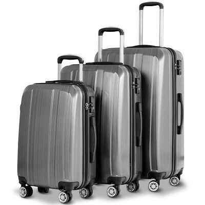 "20"" 24"" 28"" 3Pcs Travel 360 Rotating Luggage Set Trolley Suitcase w/ TSA Lock US"