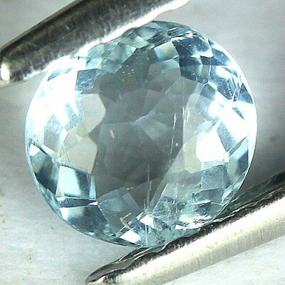 0.50 cts.5.5 x 3.1 mm.UNHEATED NATURAL BLUE AQUAMARINE ROUND BRAZIL