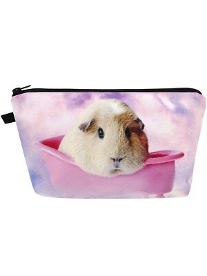 Guinea Pig Bathtime Make-Up Bag 22 x 13.5 x 3cm