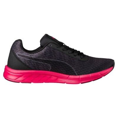 5e8f31f227774a New Puma Womens Comet Black Pink Red Lace Up Running Trail Sneaker Shoes Sz  11.5