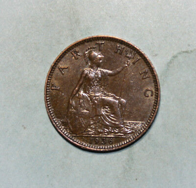 Great Britain 1 Farthing 1936 Choice Almost Uncirculated Coin - King George V