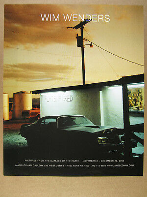 2003 Wim Wenders Pictures from the Surface of the Earth exhibit vintage print Ad