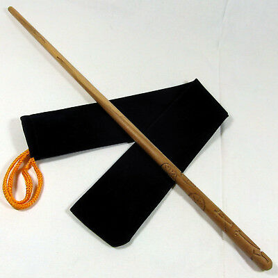 """16"""" Diggory Hand Turned Almond Wood Magic Wizards Wand Wicca Pagan w/ Velvet Bag"""