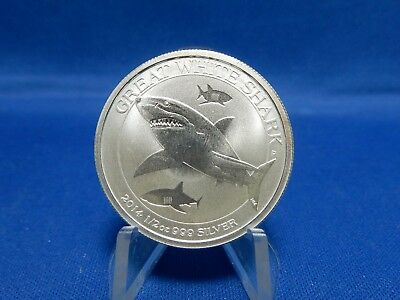 2014 Australia Great White Shark Uncirculated Half Dollar Coin
