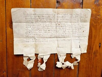 1509 early Henry 8th 16th Century Vellum Deed Document Oxfordshire etc England