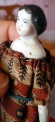 "RARE Antique 19th Century 4.5"" China Dollhouse Doll FROM MUSEUM"