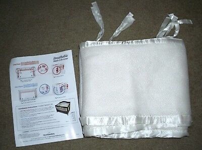 BreathableBaby BREATHABLE MESH CRIB LINER Bumper Ivory Ecru Off-White EXCELLENT