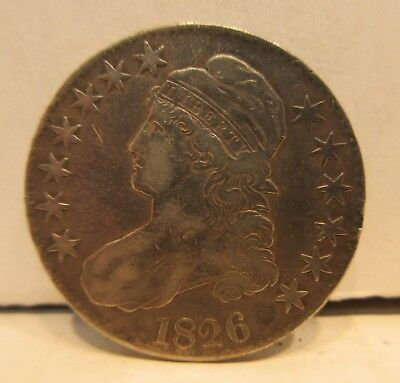 1826 Capped Bust Half Dollar United States 50 Cents Coin