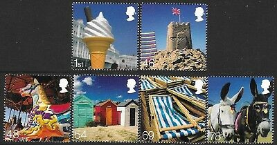 """Gb 2007. """"beside The Seaside"""". 1 Set Of 6 Stamp. Mnh."""