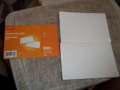200 CT. BRAND NEW SEALED 4x6 BLANK WHITE INDEX CARDS STAPLES BRAND 718103187435