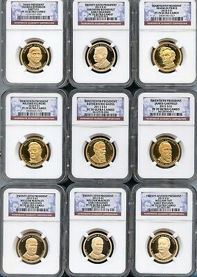 Mixed Lot Presidential Dollars (9 Pieces) NGC PF70 Ultra Cameo (As Pictured) 101
