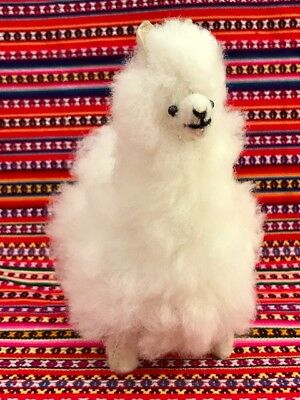 "New Llama 6""  Figurine Toy Stuffed Real Alpaca Peru Fur Soft Fluffy Andes"