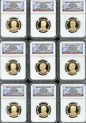 Mixed Lot Presidential Dollars (9 Pieces) NGC PF70 Ultra Cameo (As Pictured) 103