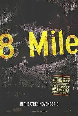 8 Mile Original Single-Sided Advance Rolled Movie Poster 27x40 NEW 2002 Eminem