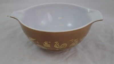 Vintage Pyrex # 442 Early American 1 1/2 Qt Quart Mixing Nesting Bowl