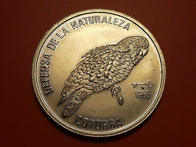 World coin Peso 1985 , Hispaniolan Amazon Parrot 3,000 Mint Rare