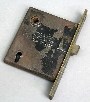 Antique SARGENT & CO MORTISE INTERIOR LOCK Patented 1881 and 1886