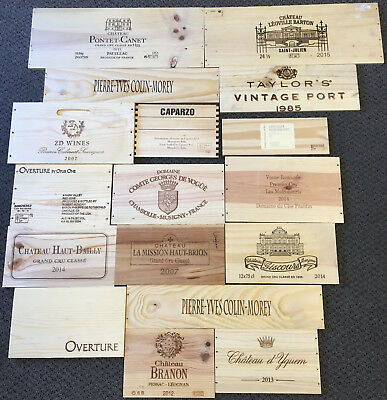 17 Wooden Wine Box End Panels from Wine Crates for Decoration Rare Wines Lot 3