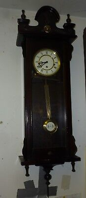 Very Nice Vintage Westminster Chime Vienna Style Wall Clock