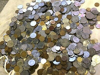 Huge 10 lbs Lot of Mexican Coins, Mexico modern & vintage coins, WYSIWYG, lot#49