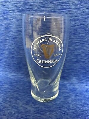 Guinness Limited Edition 200th Anniversary 200 Years In America Glass