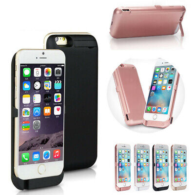 iPhone XS 8 7 6 Plus External Qi Wireless Battery Case Power Bank Charging Cover