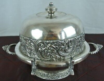 Meriden Britannia Co Quadruple Silver Plate Covered Butter Dish #5094 USA