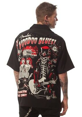 Fender Stratocaster Guitar Blues Zombie Club Shirt, Vince Ray