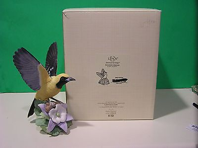 LENOX HOODED ORIOLE Bird sculpture NEW in BOX with COA