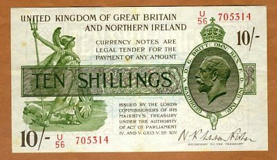Great Britain, 10 shillings, ND (1919), P-356, KGV, VF
