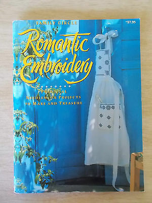 Romantic Embroidery~Family Circle~Hardanger~Cross Stitch~Shadow~Cutwork~96pp