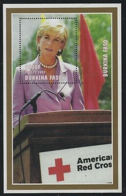 Burkina Faso 1997 Princess Diana & Red Cross S/S Sc# 1127K NH