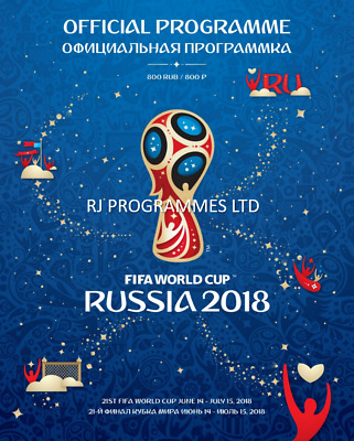2018 Fifa World Cup Official Tournament Programme (Russia)