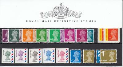 GB 2010 DEFINITIVE MACHIN PRESENTATION PACK No. 88 1p to RECORDED MINT STAMPS