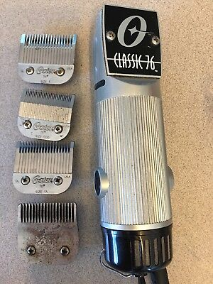 Classic 76 Oster Stainless Steel professional hair clipper With Blades