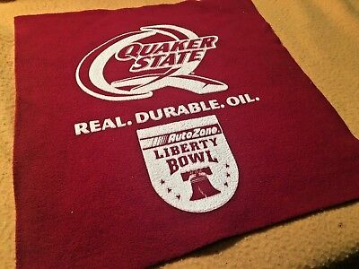 Quaker State Motor Oil Hand Towel From Auto Zone Liberty Bowl,  Free Shipping